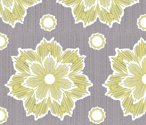 ROXY STAR in yarrow & plum gray fabric by trcreative on Spoonflower - custom fabric