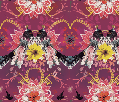 Magpie Love fabric by milliondollardesign on Spoonflower - custom fabric