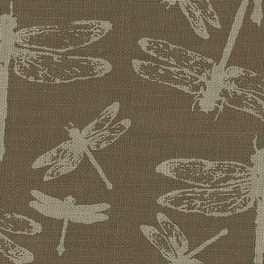 Dragonflies on Tobacco Burlap