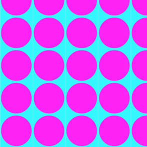 Big Dots in Turquoise and Pink