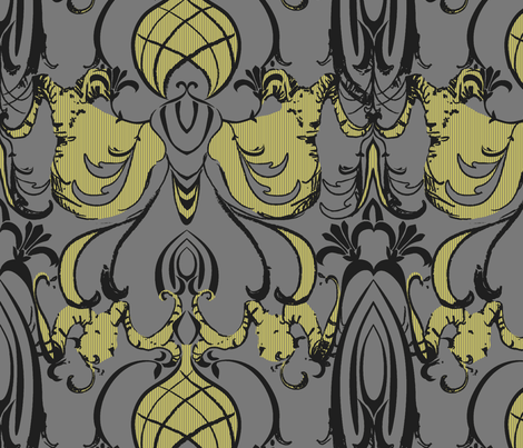 Art Deco RAM fabric by pattern_state on Spoonflower - custom fabric