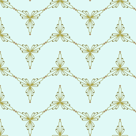 Dancing Art Nouveau Zig Zag fabric by seamingly_simple on Spoonflower - custom fabric