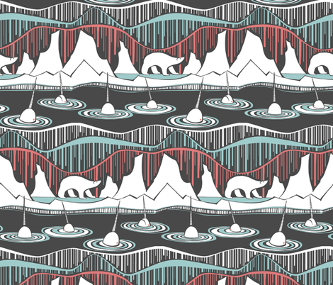 Arctic Deco fabric by ceanirminger on Spoonflower - custom fabric