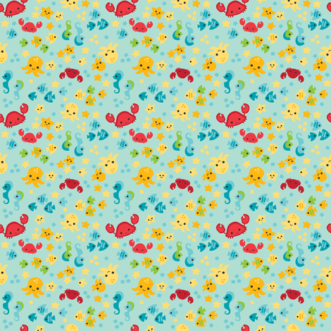 Sea Cuties fabric by charlotteandstewart on Spoonflower - custom fabric
