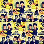 Laurel and Hardy Retro Collage