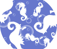Tossed Bubbly Seahorses