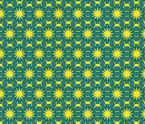 blue suns fabric by elarnia on Spoonflower - custom fabric