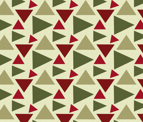 HOLIDAY TRIANGLES fabric by bluevelvet on Spoonflower - custom fabric