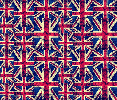 RETRO BRITISH FLAGS LARGE fabric by bluevelvet on Spoonflower - custom fabric