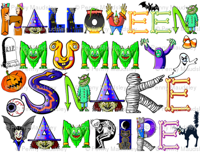 SCARY HALLOWEEN WORDS