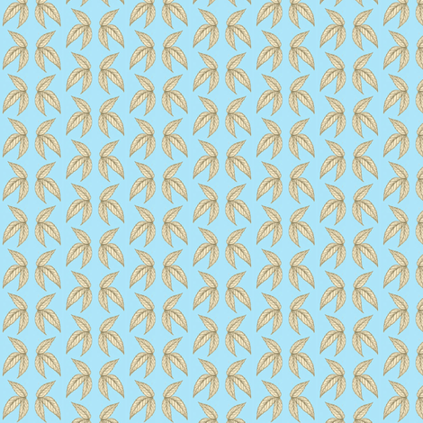 les_fleurs_just_leaves fabric by mammajamma on Spoonflower - custom fabric