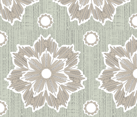 ROXY STAR in taupe & gray fabric by trcreative on Spoonflower - custom fabric