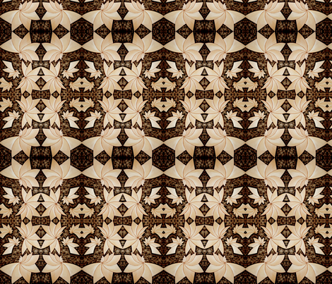 abstract brown fabric by krs_expressions on Spoonflower - custom fabric