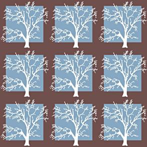 Tree Square-blue