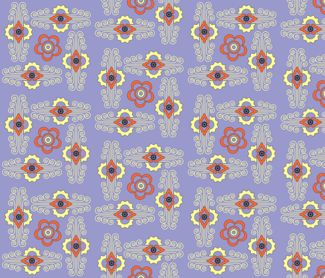 Deco Tile Lilac fabric by millifleur on Spoonflower - custom fabric