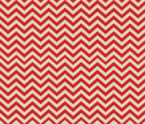 Mushroom Madness Chevron in Red and Cream fabric by bella_modiste on Spoonflower - custom fabric