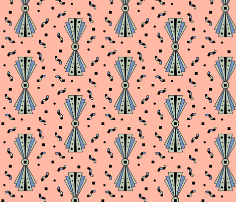 Art deco element fabric by fantazya on Spoonflower - custom fabric