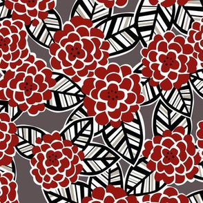 deco dahlia in red