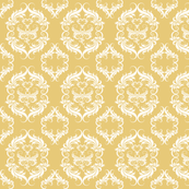 Honey Wheat Damask  E7C978