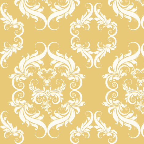 Honey Wheat Damask  E7C978 fabric by cksstudio80 on Spoonflower - custom fabric