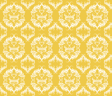 Yellow_Damask_EEC949 fabric by cksstudio80 on Spoonflower - custom fabric