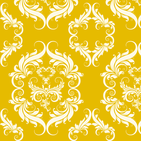 Yellow_Damask_E6BB00 fabric by cksstudio80 on Spoonflower - custom fabric