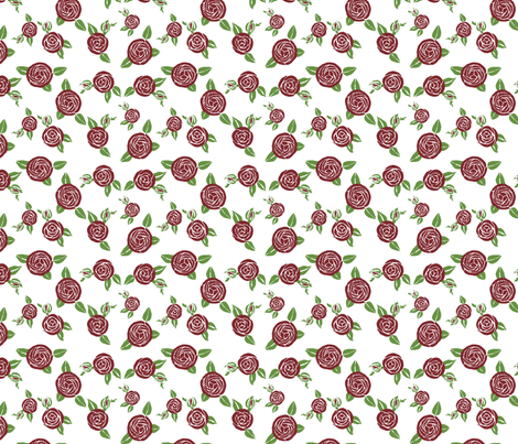 Art Deco Boulle  roses fabric by bargello_stripes on Spoonflower - custom fabric