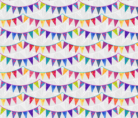 Birthday Bunting fabric by coggon_(roz_robinson) on Spoonflower - custom fabric