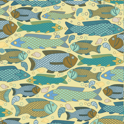 Historic_Fishes fabric by zeinab on Spoonflower - custom fabric