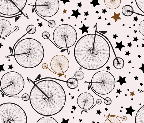 Biking_at_Night2 fabric by linalissner on Spoonflower - custom fabric