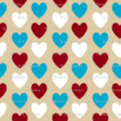 Love Letter Micro Hearts - Beige