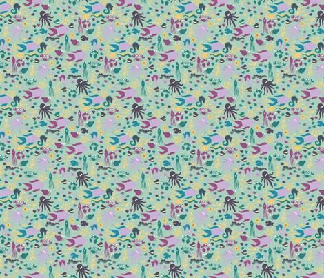 LaraGeorgine_Ditsy_Sea_Creatures fabric by larageorgine on Spoonflower - custom fabric