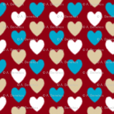 Love Letter Micro Hearts - Red