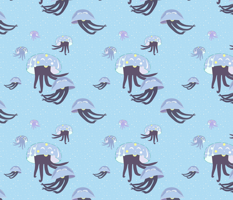 Jelly_fish fabric by alfabesi on Spoonflower - custom fabric