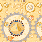 Steampunk Mosaic Time Machine -- Large version  ©2012 by Jane Walker
