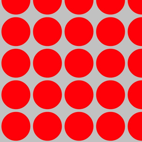 Big Dots in Grey & Tomato