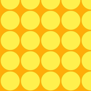 Big Dots in Orange and Yellow