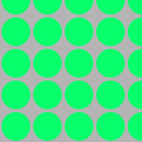 Big Dots in Grey & Green