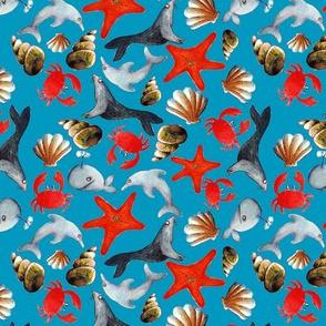 liberty des mers fond bleu M
