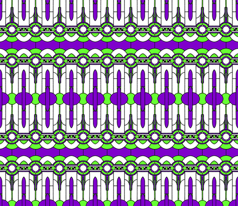 Art_Deco_purple and green fabric by mammajamma on Spoonflower - custom fabric