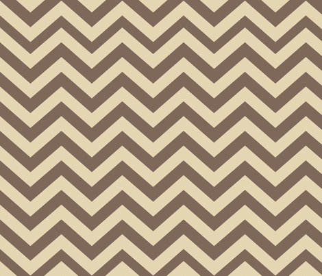 Mushroom Madness Chevron in Brown and Cream fabric by bella_modiste on Spoonflower - custom fabric