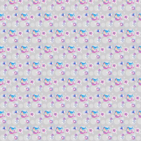 Little Mermaid-ed fabric by malien00 on Spoonflower - custom fabric