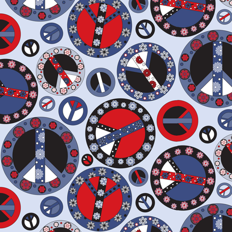 Peace Patriotic fabric by mag-o on Spoonflower - custom fabric