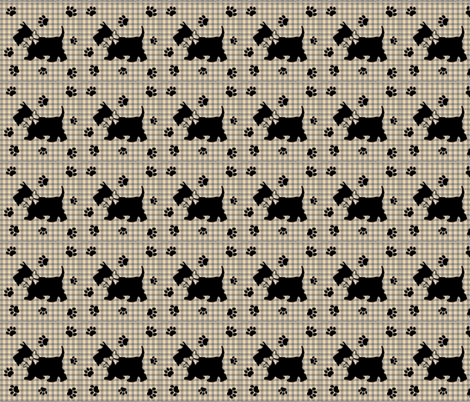 PLAID N PAWS fabric by bluevelvet on Spoonflower - custom fabric