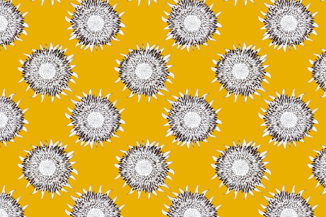 Yellow Sunflowers fabric by prettypenny on Spoonflower - custom fabric