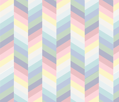 pastel_rainbow_herringbone fabric by janelle_wooten on Spoonflower - custom fabric