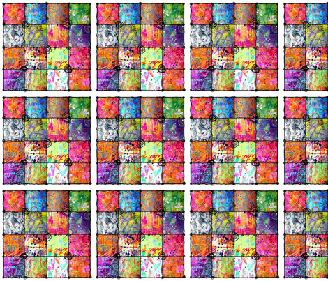 Mini Scribblepaper Squares fabric by ephemeralalchemy on Spoonflower - custom fabric