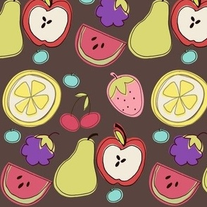 Fruit Salad in Brown