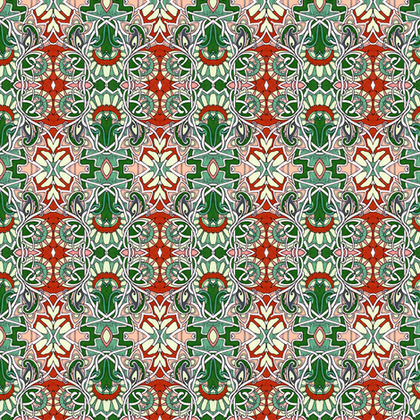 Modern Victorian Christmas fabric by edsel2084 on Spoonflower - custom fabric