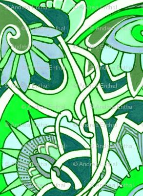 Tiny Green Granny Print